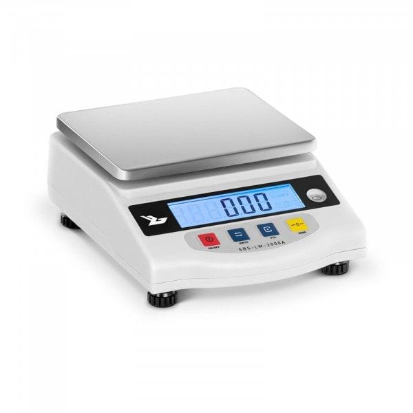 Precisionsvåg - 2000 g / 0,01 g - LCD