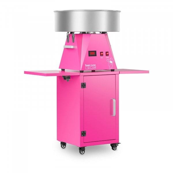 Sockervaddsmaskin set med vagn - 52 cm - rosa/rosa