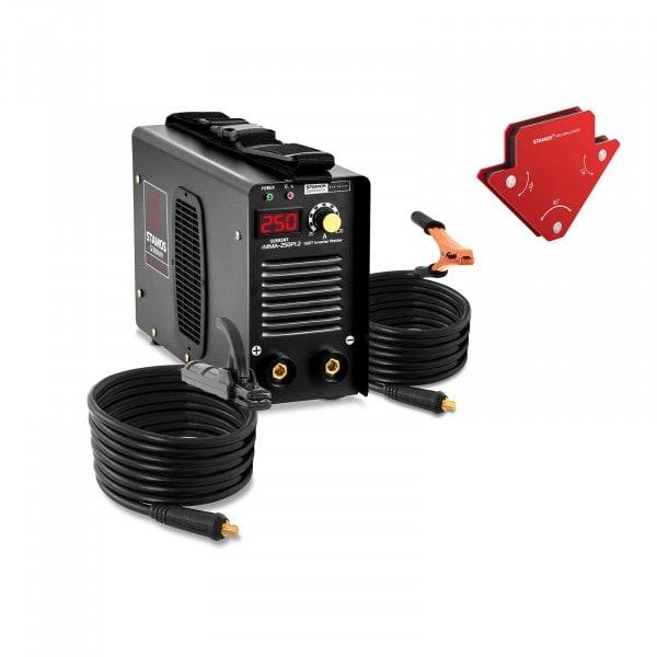 Set MMA-svets plus 2 svetsmagneter - 250 A - 8 m kabel - Hot Start
