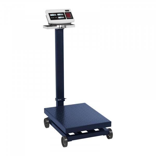 B-Sortiment Plattformsvåg - 600 kg / 100 g - med hjul