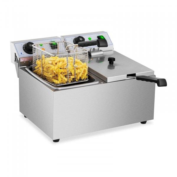 Elektrisk fritös - 2 x 8 liter - 230 V
