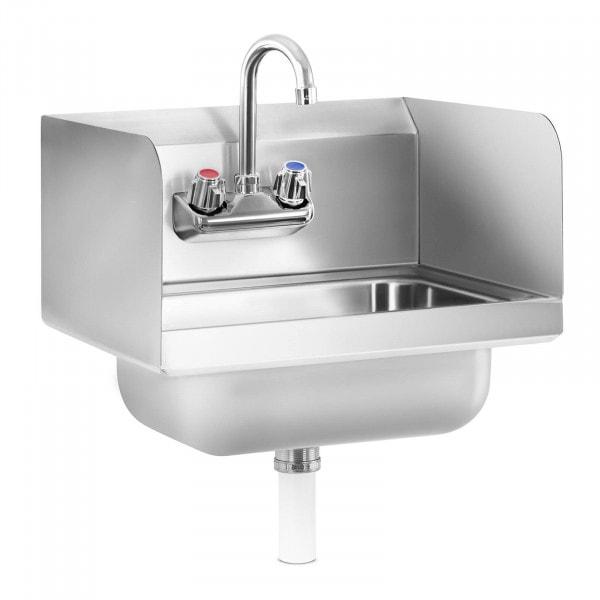 Tvättställ i rostfritt stål - inkl. armatur