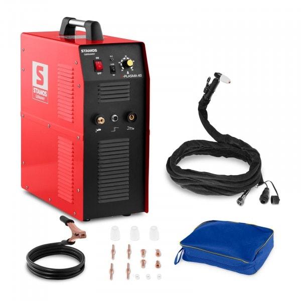 Plasmaskärare - 40 A 230 V - inbyggd tryckluftskompressor