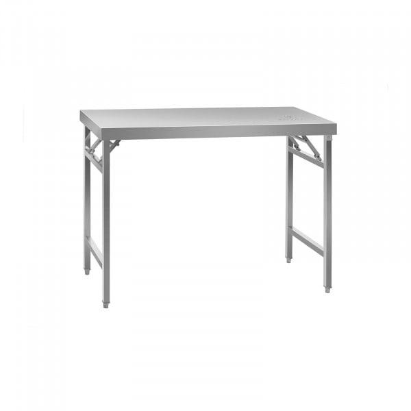 Rostfri arbetsbänk - hopfällbar - rostfritt stål - 120 x 60 cm
