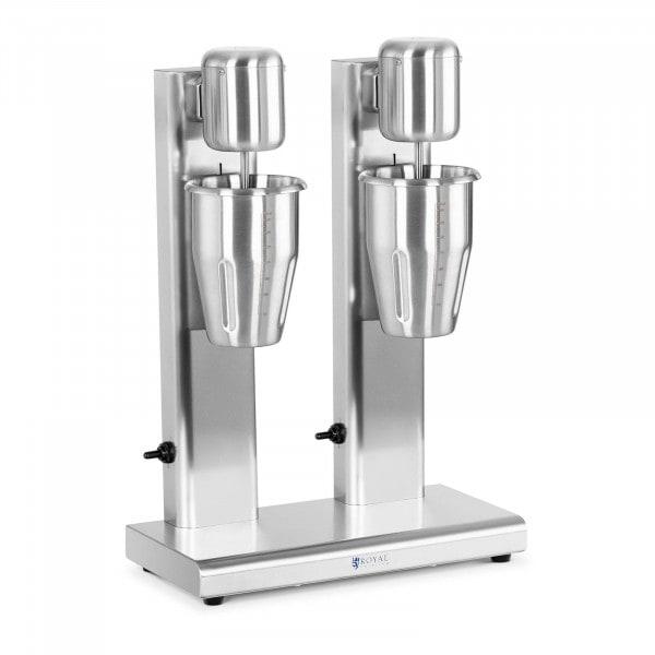 Milkshakemaskin - Dubbel - 2 x 1 L - 15 000 rpm - Rostfritt stål