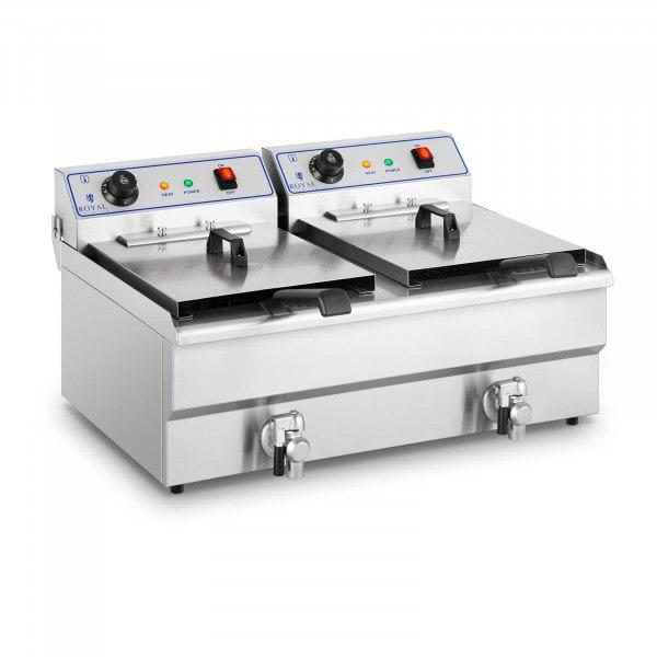 Elektrisk fritös - 2 x 16 liter - 400 V