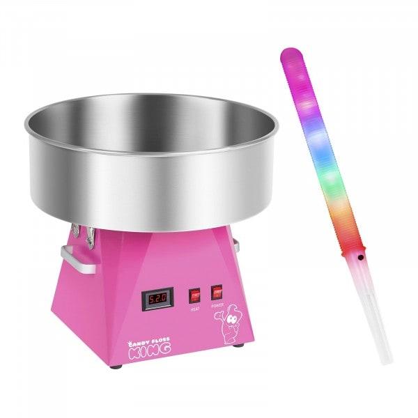 Sockervaddsmaskin - Set - inkl. 50 LED-sockervaddspinnar - 52 cm - 1.030 Watt