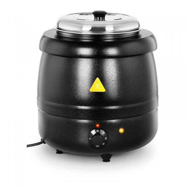 Elektrisk soppkittel - 10 L - Stål - Svart beläggning