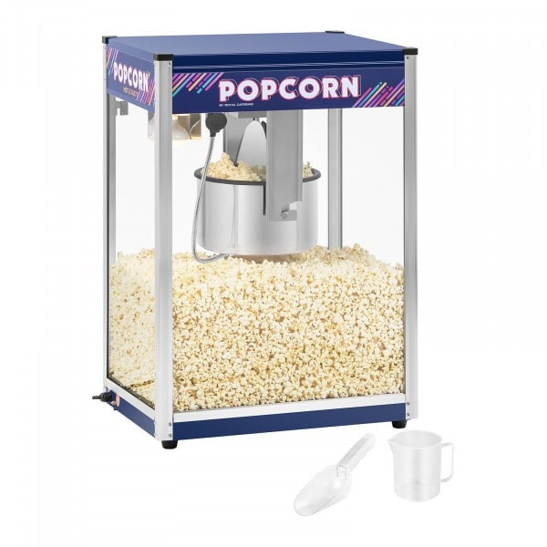 Popcornmaskin - blå - 16 oz - XXL