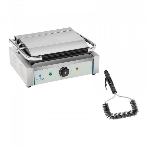 Set kontaktgrill och grillborste - 2200 W - Räfflad upptill