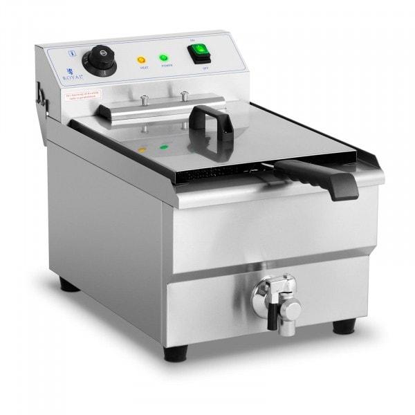 Elektrisk fritös - 16 liter - 6000 W - tappkran - kallzon