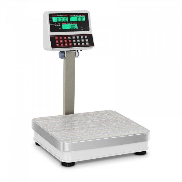 Prisvåg - 100 kg / 10 g - vit - LCD