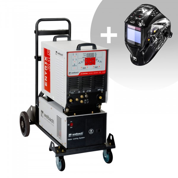 Aluminiumsvets - 315 A - 400 V - puls - vattenkylare + Svetshjälm - Metalator - Expert Series