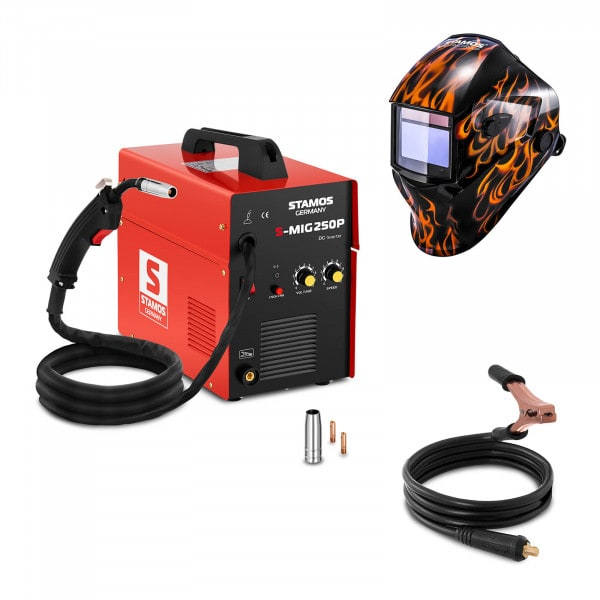 MIG-/MAG-svets - 250 A - 230 V - bärbar + Svetshjälm – Firestarter 500 – Advanced Series