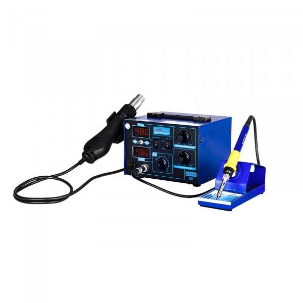 Gesamtansicht von Lötstation mit integriertem Netzteil - 2 Displays - 730 Watt - Basic