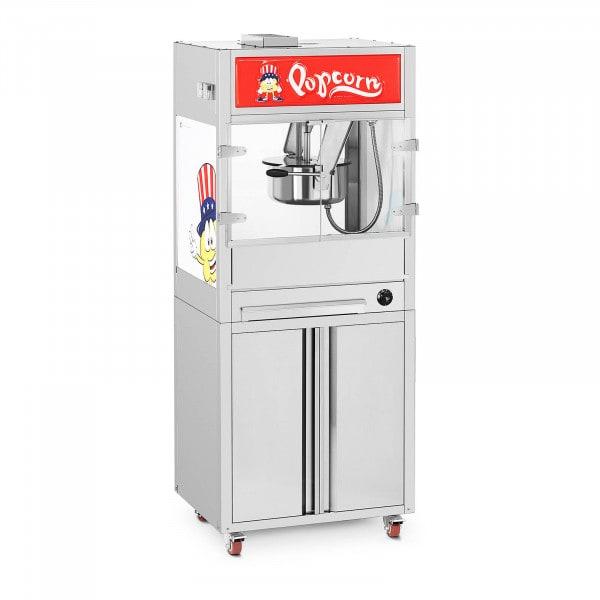 Popcornmaskin - Med underskåp på hjul - Royal Catering - Medium