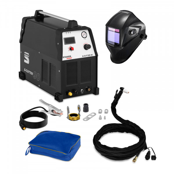 Plasmaskärare - 90 A - 400 V + Svetshjälm – Carbonic – Professional Series
