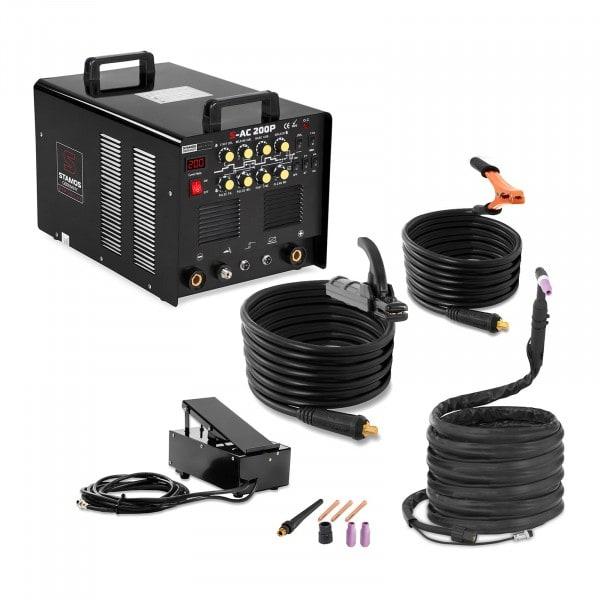 Aluminiumsvets - 200 A - Puls - 8 m kabel - Fotpedal