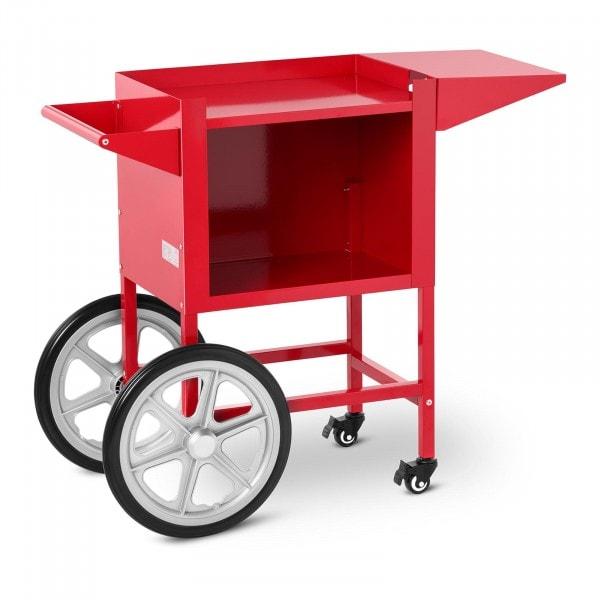 Vagn för popcornmaskin - röd - 2 bromsar