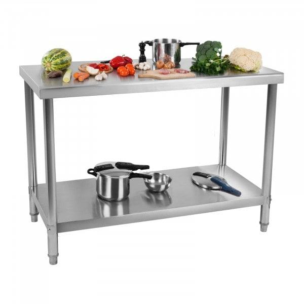 Arbetsbord i rostfritt stål - 100 x 70 cm - 120 kg