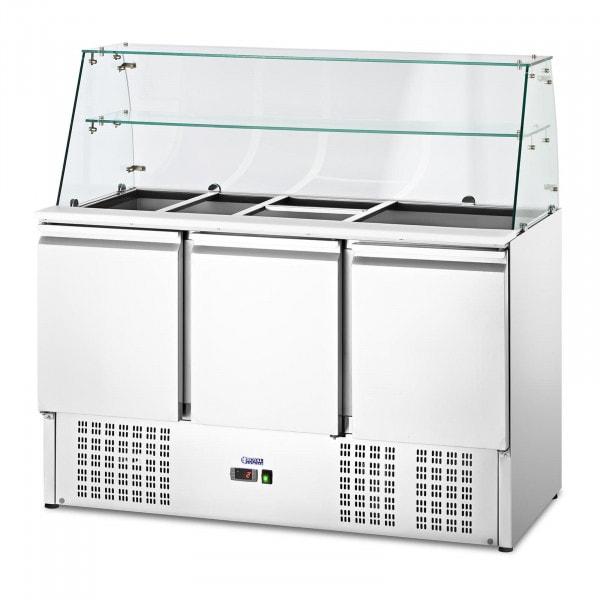 Salladskyl - Med glasmonter - royal_catering - 368 L - För 8 GN-behållare - 136.5 x 70 cm