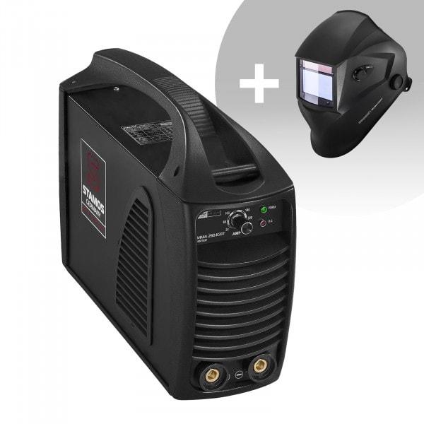 MMA-svets - 250 A - hotstart - IGBT + Svetshjälm – Blaster – Advanced Series