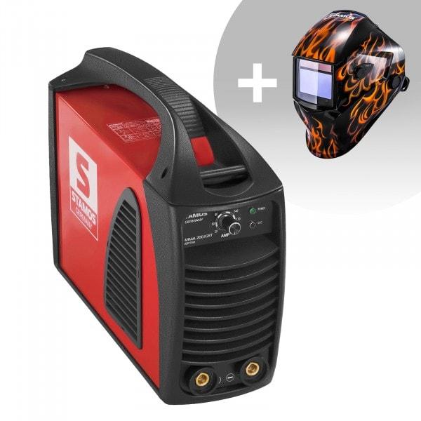 MMA-svets - 200 A - hotstart - IGBT + Svetshjälm – Firestarter 500 – Advanced Series
