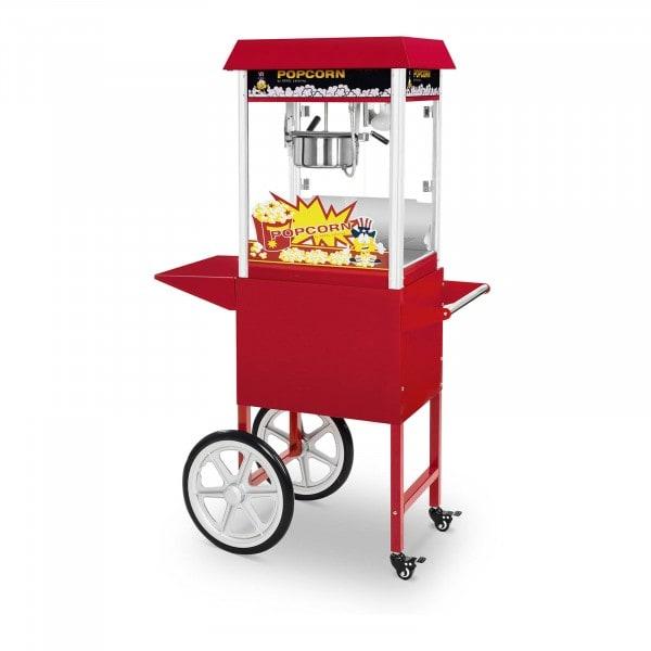 Popcornmaskin inkl. vagn - Set - 1495 W - röd - 51 x 37 cm