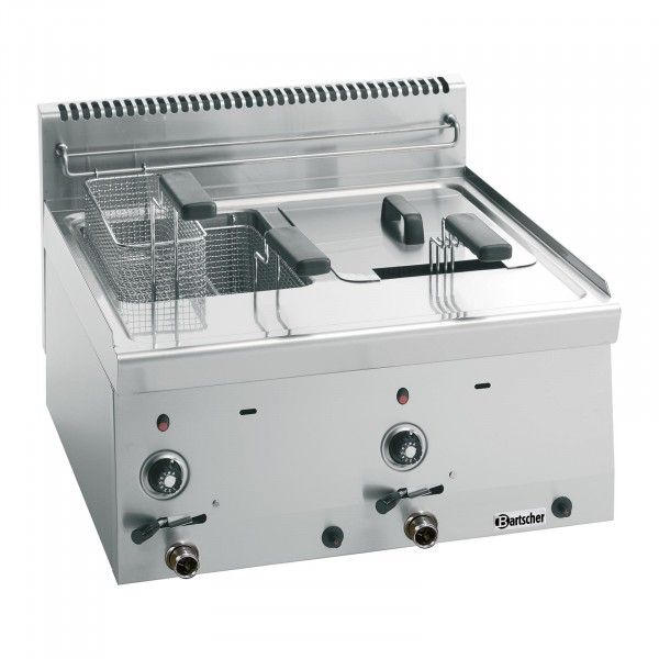 Bartscher Fritös-gas 600 - B 600mm - 2x 8 Liter
