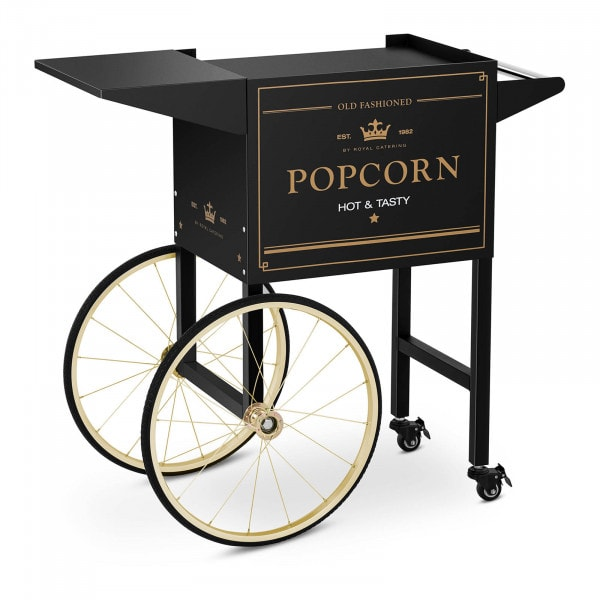 Vagn för popcornmaskin - Svart & guld
