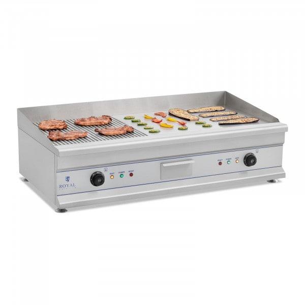 Elektriskt stekbord - Dubbelt - 100 cm - Slät/räfflad - 2 x 3200 W