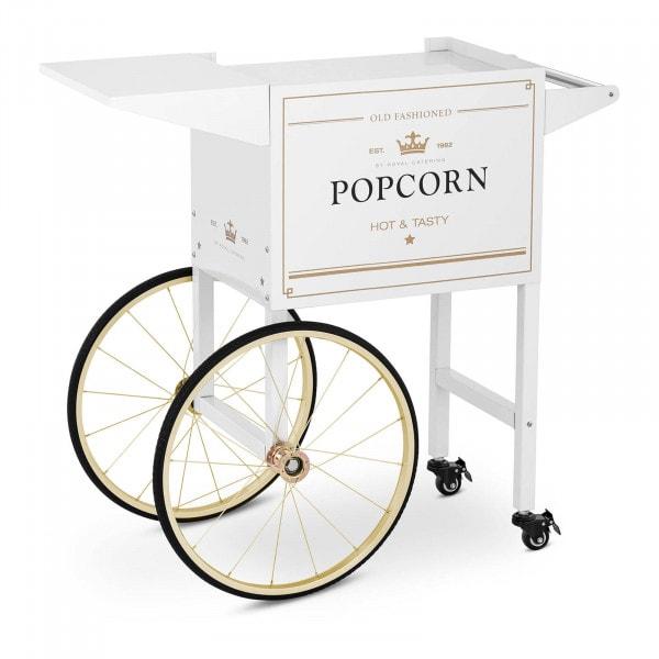 Vagn för popcornmaskin - Vit & guld