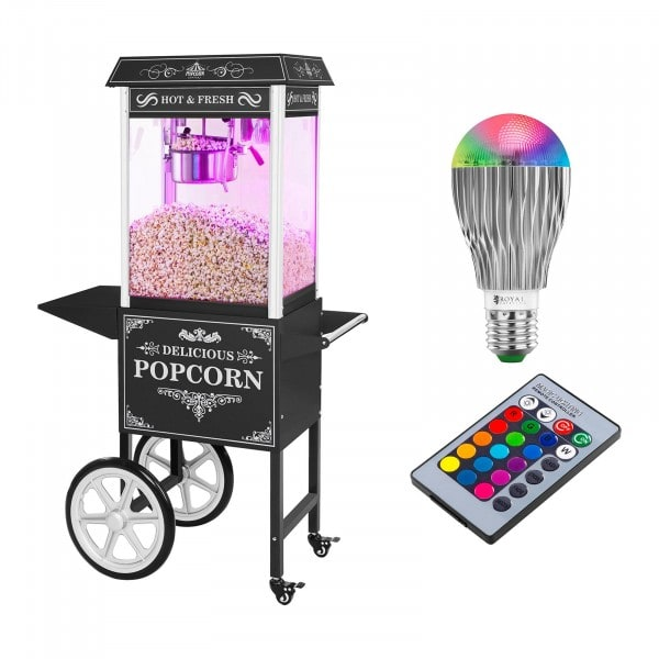 Popcornmaskin - set - retrodesign - svart