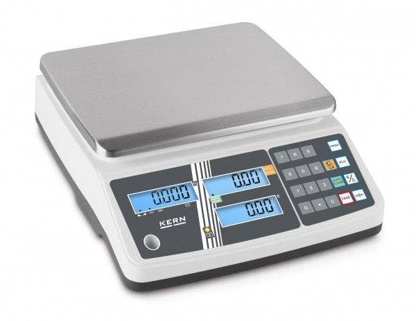 KERN Prisvåg - 6 kg / 2 g - vit - LCD