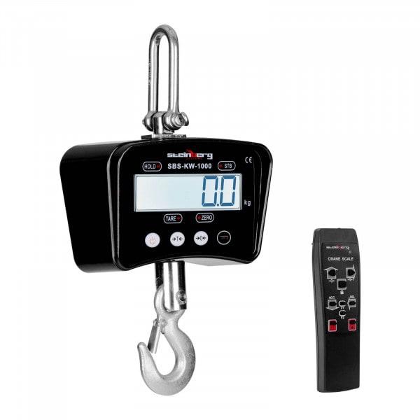 Kranvåg - 1000 kg / 0,5 kg - svart