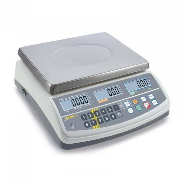 Gesamtansicht von KERN Preisrechenwaage - 15 kg / 2 g - weiß - LCD