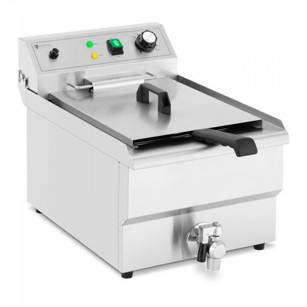 Elektrisk fritös - 13 L - 5000 W - Tappkran - Kallzon