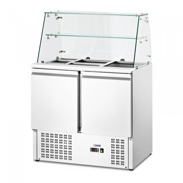 Salladskyl - Med glasmonter - royal_catering - 240 L - För 7 GN-behållare - 90 x 70 cm