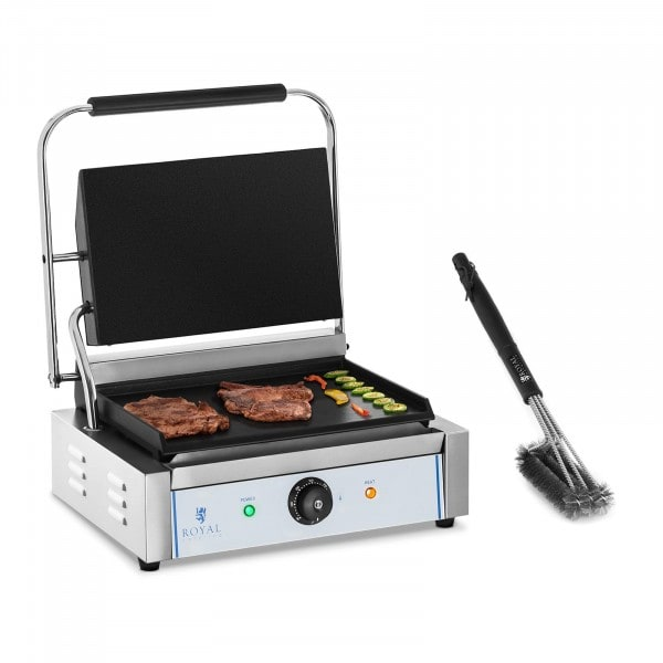 Set kontaktgrill med grillborste - 2200 W - Slät