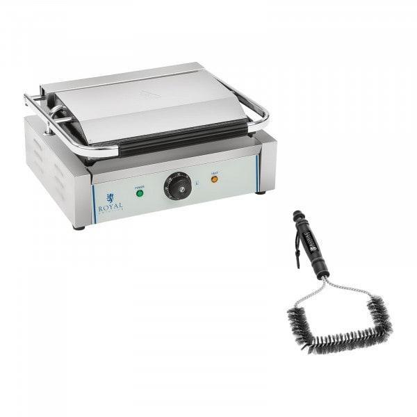 Set kontaktgrill och grillborste - 2200 W - Räfflad
