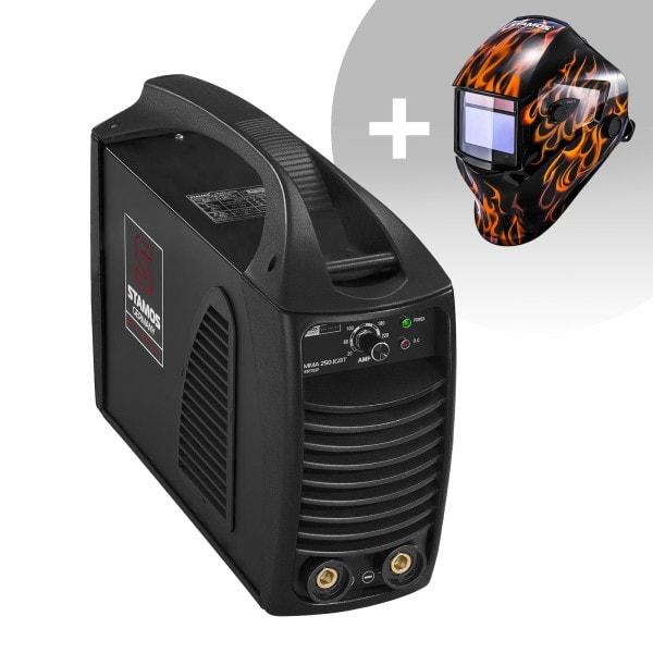 MMA-svets - 250 A - hotstart - IGBT + Svetshjälm – Firestarter 500 – Advanced Series