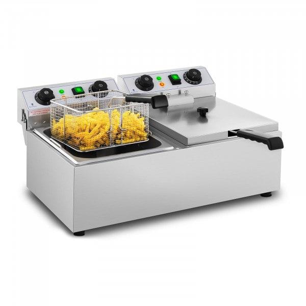 Elektrisk fritös - 2 x 10 liter - Timer - 230 V