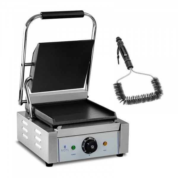 Set kontaktgrill med grillborste - 1800 W - Slät