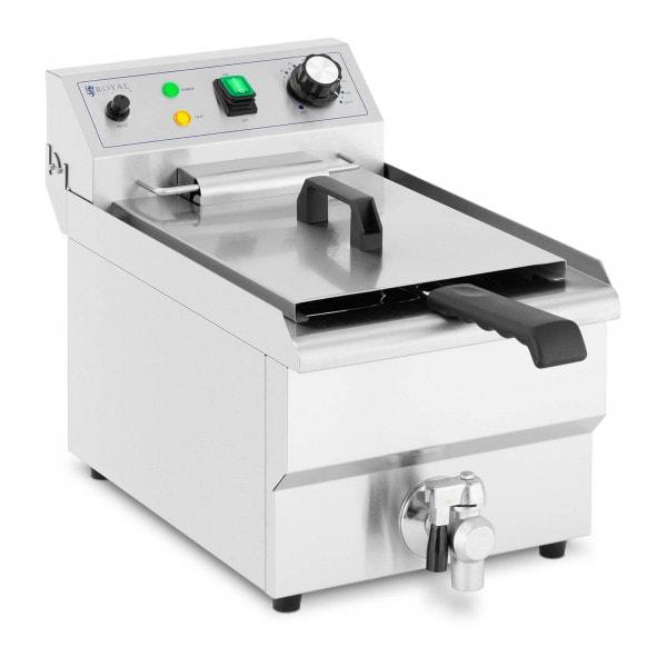 Elektrisk fritös - 9 L - 3000 W - Tappkran - Kallzon