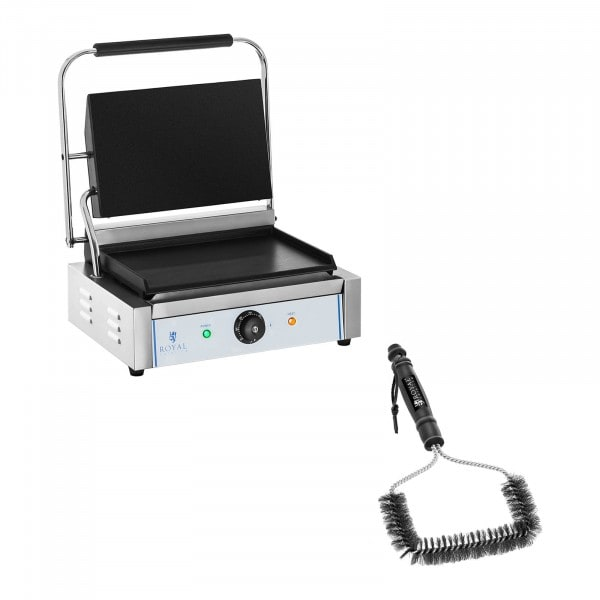 Set kontaktgrill och grillborste - Slät - 2200 W
