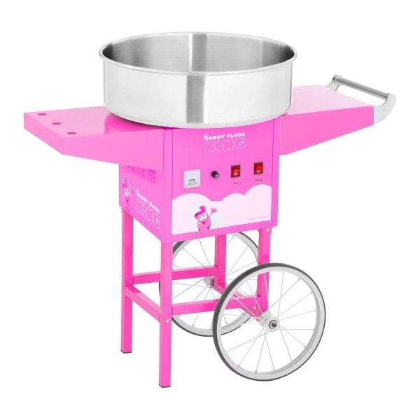 Sockervaddsmaskin med vagn - 52 cm - 1200 W - rosa