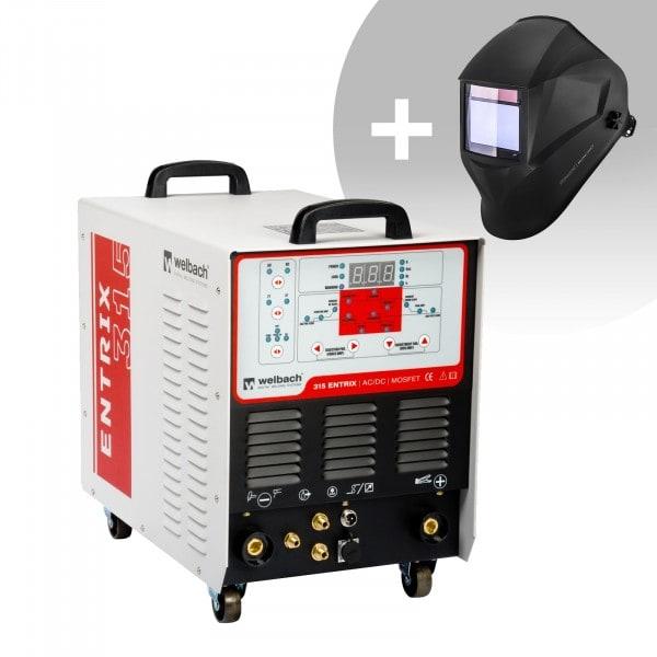 Aluminiumsvets - 315 A - 400 V - puls - digital - 2/4-takt + Svetshjälm – BlackONE – Expert Series
