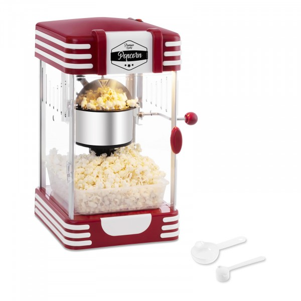 B-Sortiment Popcornmaskin - 50-tals retrodesign - röd