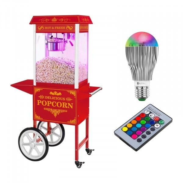 Popcornmaskin - set - retrodesign - röd