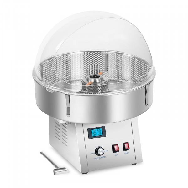 Sockervaddsmaskin set med uppsamlingsnät och spottskydd - 62 cm - rostfritt stål